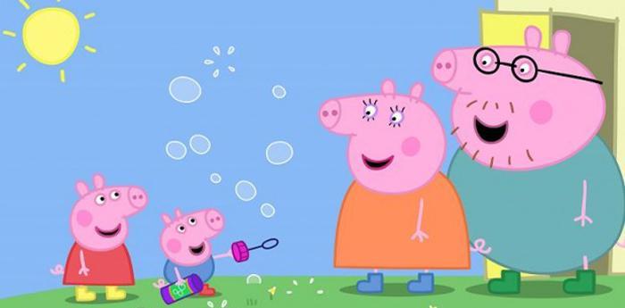peppa pig e la sua famiglia