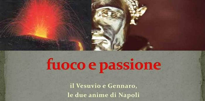 Locandina della mostra Fuoco e Passione al Museo del Tesoro di San Gennaro a Napoli