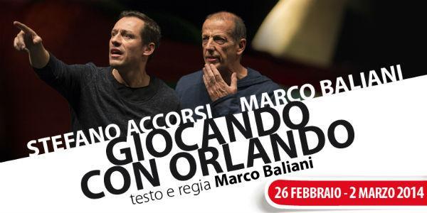 Locandina dello spettacolo Giocando con Orlando al Teatro Nuovo di Napoli