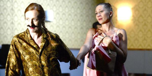 Scena dello spettacolo Il servitore di due padroni di Antonio Latella al Teatro Bellini di Napoli