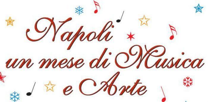 Locandina della rassegna Napoli un mese di musica e arte Gennaio 2014