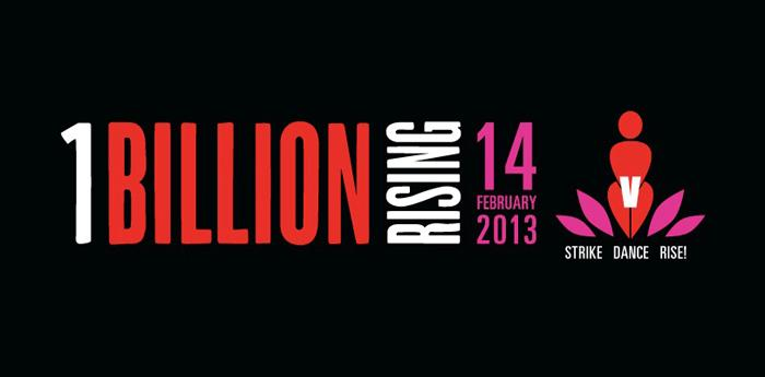 locandina del flashmob One Billion Rising di San Valentino 2014