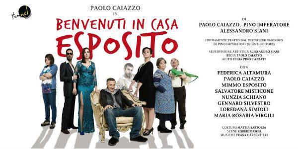 Locandina dello spettacolo Benvenuti in Casa Esposito al Teatro Augusteo