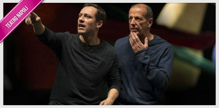 Stefano Accorsi e Marco Baliano nello spettacolo Giocando con Orlando al Teatro Nuovo di Napoli