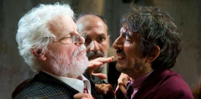 Sergio Rubini e Michele Placido nello spettacolo Zio Vanja al teatro Bellini di Napoli