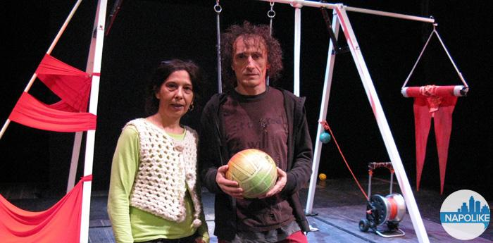 Gli artisti Antonio Rezza e Flavia Mastrella al Teatro Bellini di Napoli