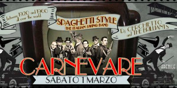 Locandina di CarnevARE la festa di Carnevale 2014 all'Arenile Reload di Napoli