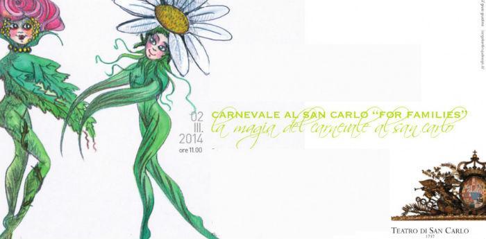 Locandina dell'evento di Carnevale al Teatro San Carlo di Napoli