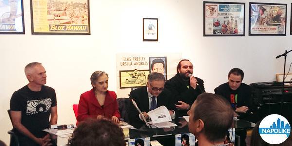 conferenza stampa della mostra sul rock al pan di napoli