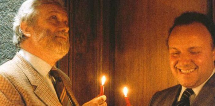 Una scena del film Così parlò Bellavista con Luciano De Crescenzo