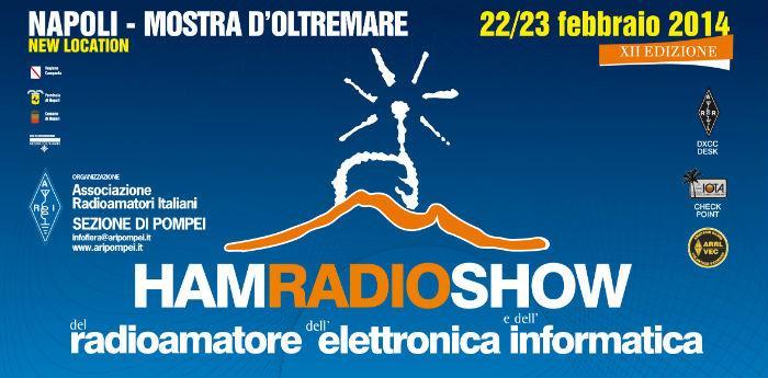 Locandina dell'Ham Radio Show che si terrà a Napoli alla Mostra d'Oltremare