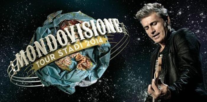 locandina del mondovisione tour 2014 di ligabue