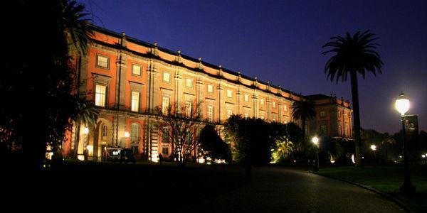 Museo di Capodimonte di Napoli di notte