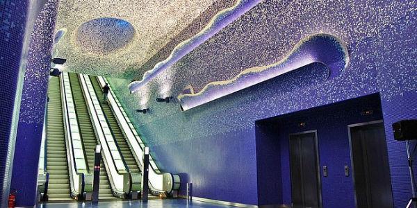 Stazione metro di Toledo a Napoli
