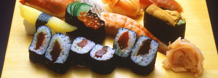 piatto di sushi giapponese