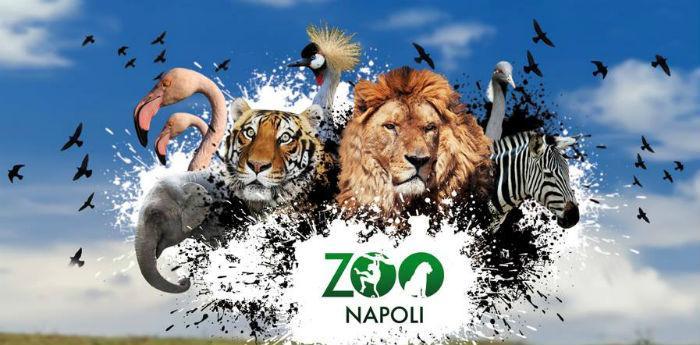 Locandina della festa di carnevale allo Zoo di Napoli
