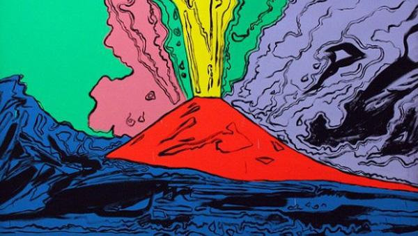 la serigrafia Vesuvius di andy warhol