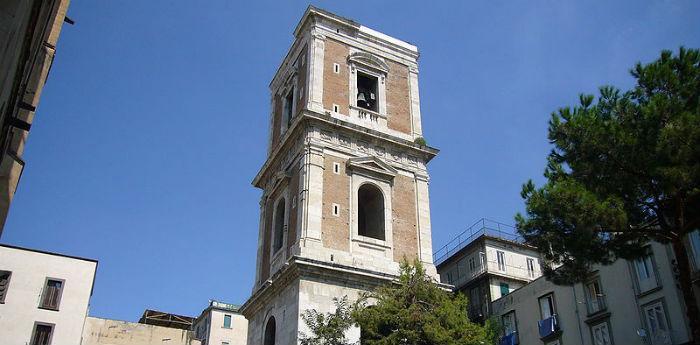 Foto del Campanile della Basilica di Santa Chiara che sarà riaperto al pubblico dopo 100 anni