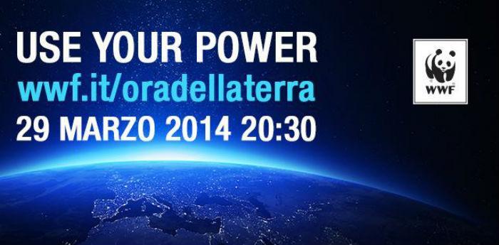 Locandina dell'iniziativa L'Ora della Terra 2014, anche a Napoli