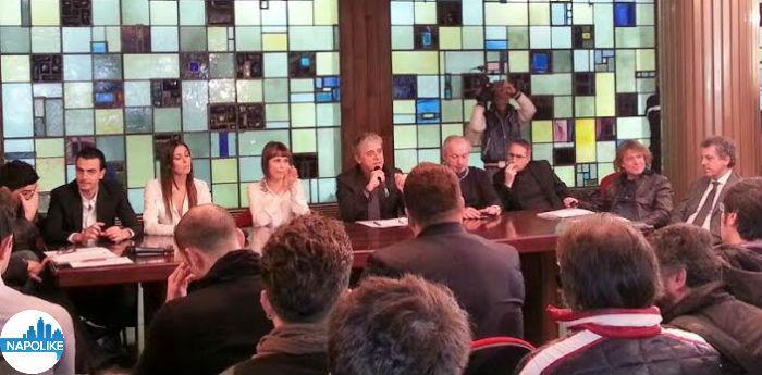 Foto del cast di Made in Sud in conferenza stampa