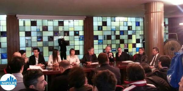 Foto della conferenza stampa di Made in Sud alla Rai di Napoli