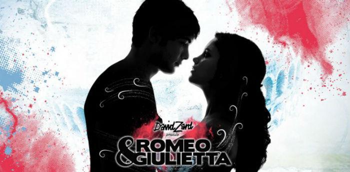 ملصق للعرض روميو وجولييت لديفيد زارد في مسرح بالابارتنوب