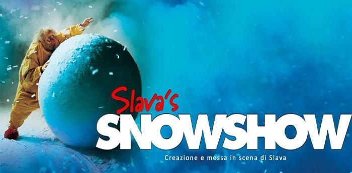 Locandina dello spettacolo Slava's Snowshow in scena al Teatro Bellini di Napoli