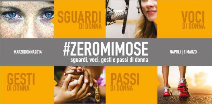 Locandina dell'evento Zeromimose dell'assessorato al Comune di Napoli per la Festa della Donna