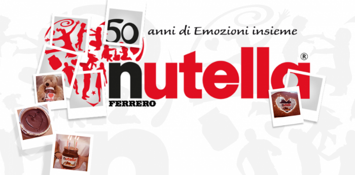 Poster of the event 50 years of Nutella in Piazza del Plebiscito Naples