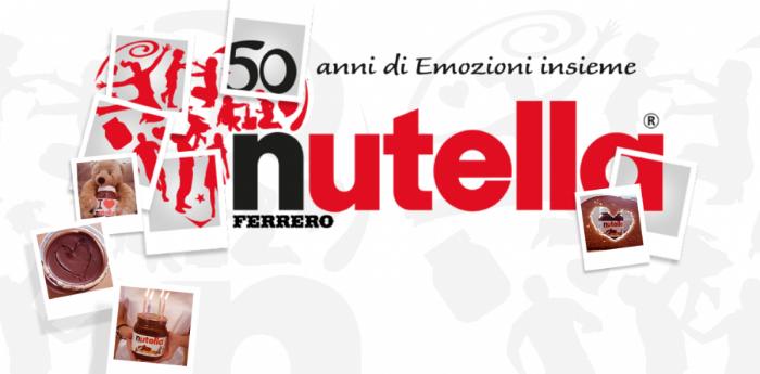 Locandina dell'evento 50 anni di Nutella in piazza del Plebiscito Napoli
