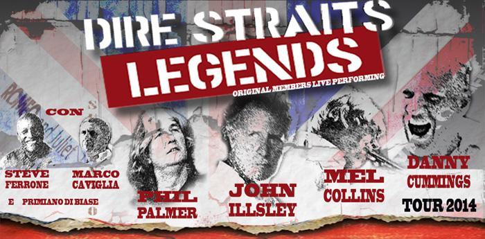 locandina del dire straits legends tour 2014