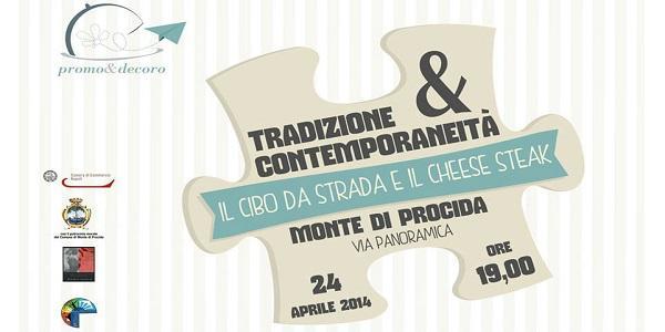 Plakat des Käse-Steak-Festivalereignisses in Monte di Procida
