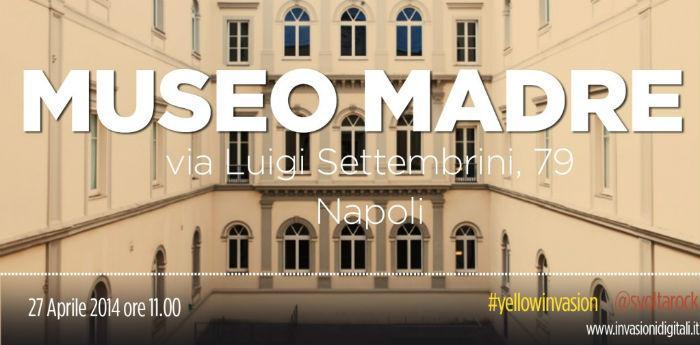 Locandina dell'invasione digitale in programma al Museo Madre di Napoli