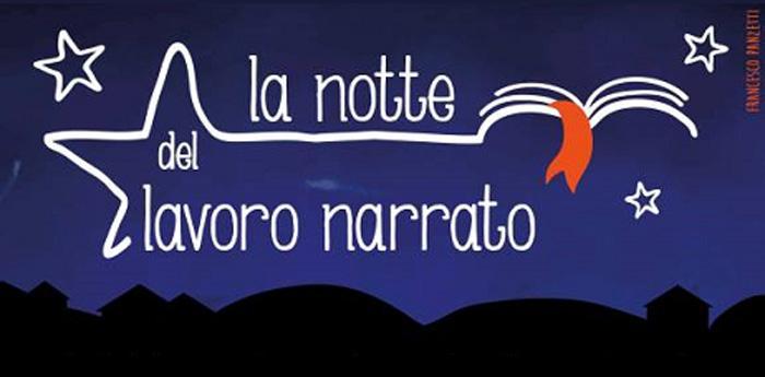 locandina della notte del Lavoro Narrato