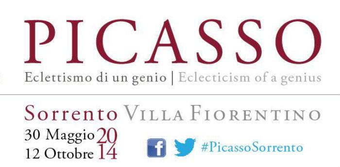 Locandina della mostra su Pablo Picasso a Sorrento presso Villa Fiorentino