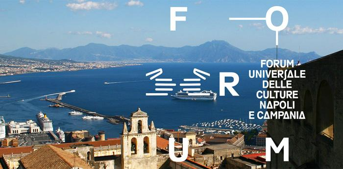 Plakat des Universal Forums der 2014-Kulturen in Neapel und Kampanien