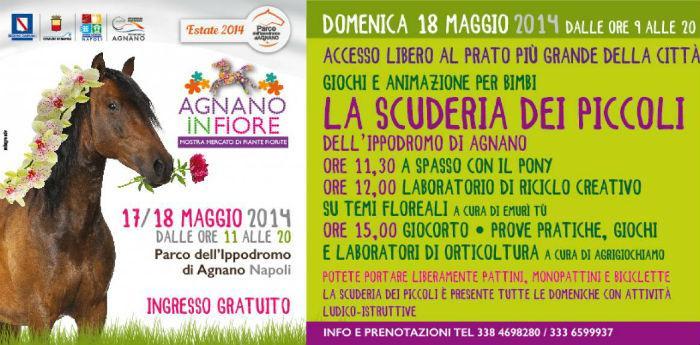 Locandina dell'evento Agnano in Fiore alla'Ippodromo di Agnano, a Napoli
