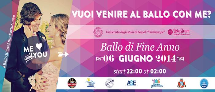 Locandina del Ballo di fine anno 2014 all'Università Parthenope di Napoli
