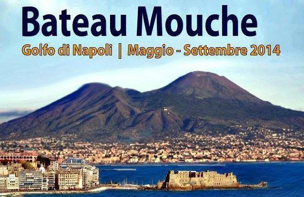 Locandina dei tour della costa in Bateau Mouche a Napoli 2014