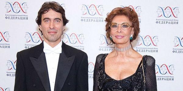 Carlo Ponti jr e sua madre Sophia Loren