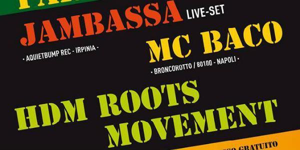 locandina del concerto reggae montesantown a napoli