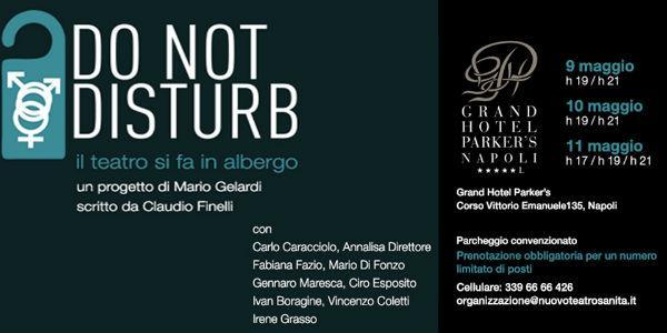 Locandina dello spettacolo Do not disturb al Nuovo Teatro Sanità