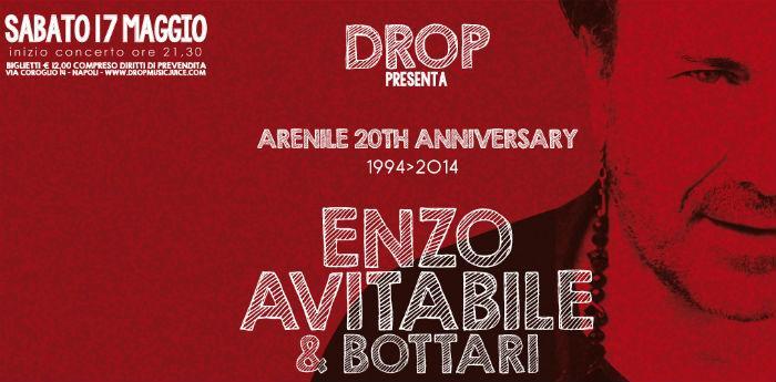 Locandina del concerto di Enzo Avitabile e Bottari all'Arenile Reload di Napoli
