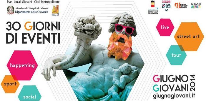 Locandina della kermesse Giugno dei Giovani 2014 a Napoli