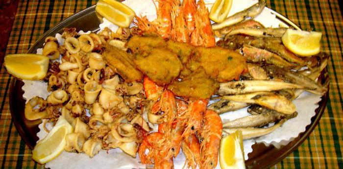Pescata di paranza für das Fest von Castellabate