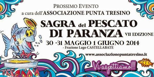Plakat des paranza Fischfestivals in Castellabate