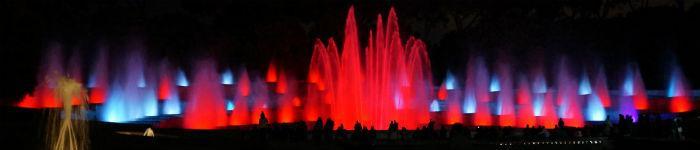 Fontana luminosa alla Mostra d'Oltremare