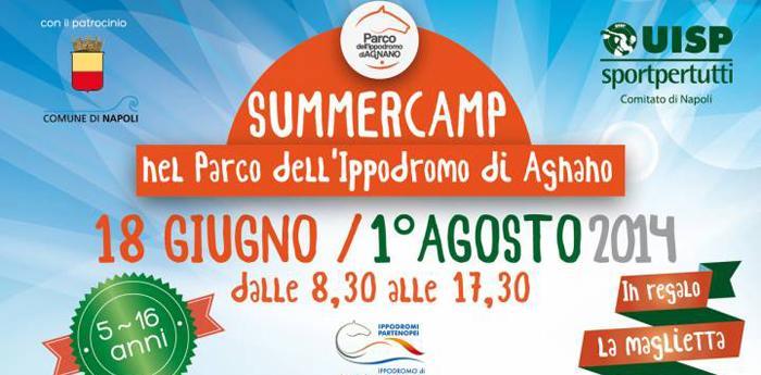 Locandina del Campo Estivo all'Ippodromo di Agnano a Napoli