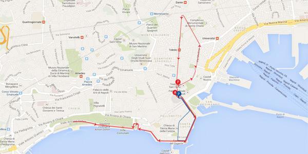 percorso della maratona walk of life 2014 a Napoli