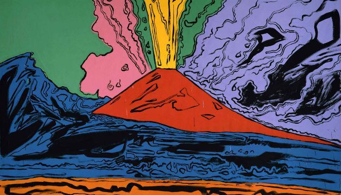 Locandina della mostra di Andy Warhol al Pan di Napoli